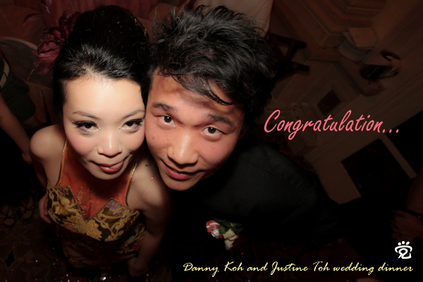Congratulation to Danny Koh and Justine Toh