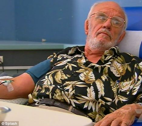 Mr Harrison, dubbed 'the man with the golden arm', is still donating every few weeks at the age of 74. He is thought to have saved 2.2million babies