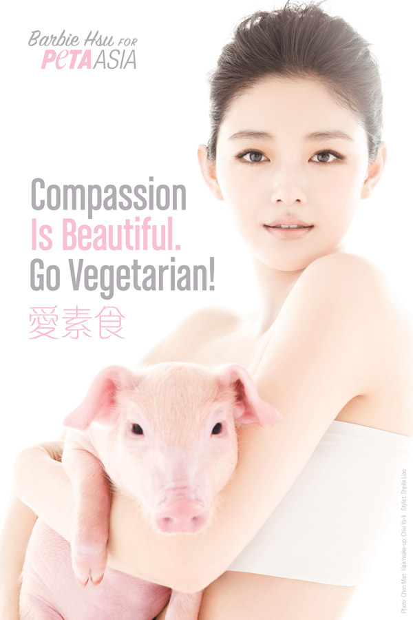 Compassion Is Beautiful. Go Vegetarian! 爱素食