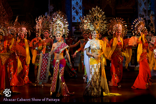 The Siamese traditional dance performed on the show in Pattaya