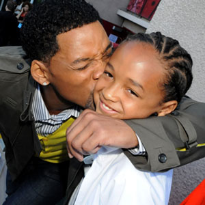 from left: Will Smith and son Jaden