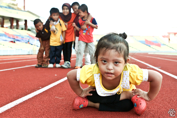 as strong as happy (children at Paralympic Malaysia 2010)