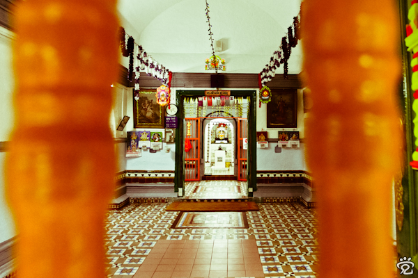inside one of the oldest Hindu temples in Malaysia, Sri Poyyatha Vinayagar Moorthi Temple