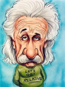 Albert Einstein (image by Tom Richmond)