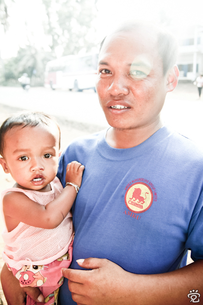 Khmer father and child
