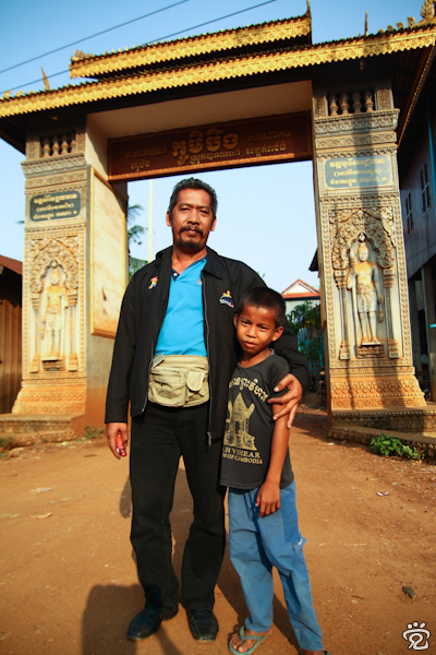 my friend, Zam (left) and a Khmer boy