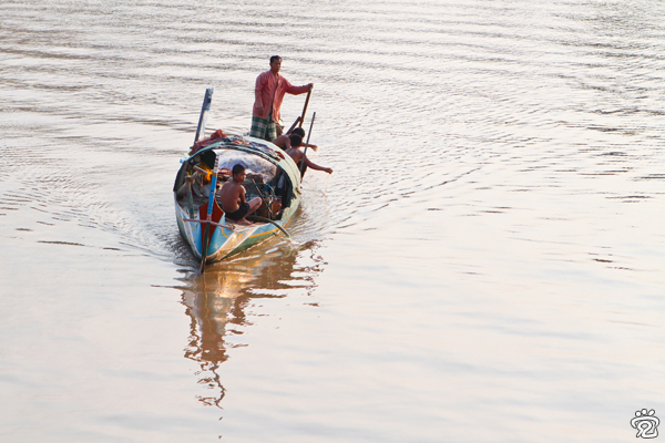 Cham fishing boat on Mekong River