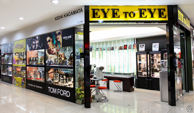 outlook of Eye to Eye optical shop in Dataran Pahlawan shopping center