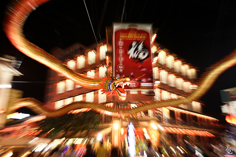 Happy Chinese New Year to all! (1Malaysia prosperity dragon at the entrance of Jonker Street)