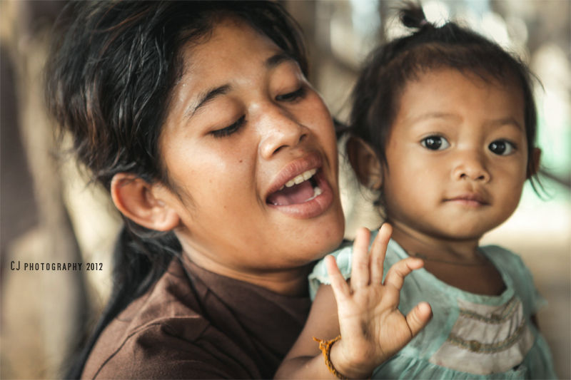 Happy Mother's Day (Khmer mother and daughter, shot in Cambodia)