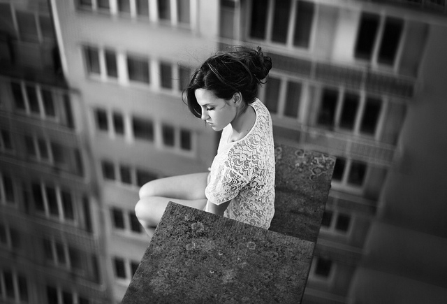 We always fall in loneliness (photograph by David Olkarny)