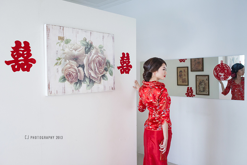 Chinese wedding costume in Melaka
