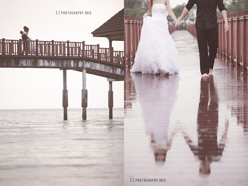 Jetty in Port Dickson for wedding portrait
