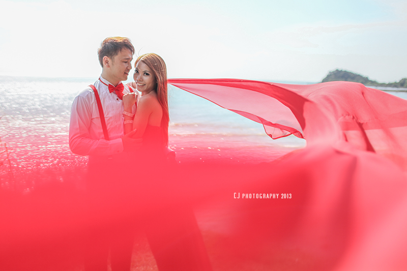 wedding portrait at one of the islands in Melaka