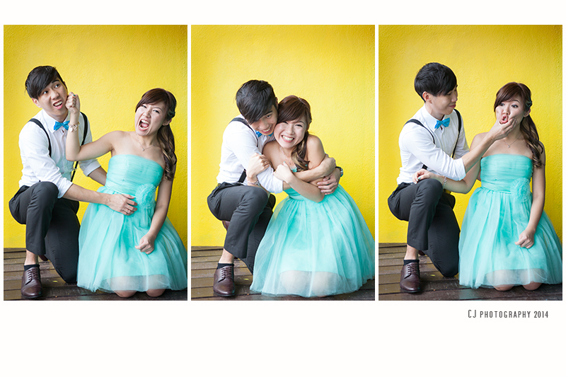 Fun couple portrait with wedding photographer Melaka