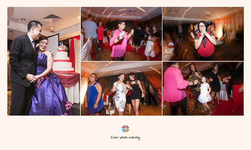 Wedding dinner reception at Ramada Plaza Hotel Melaka with lots of dance and laughters
