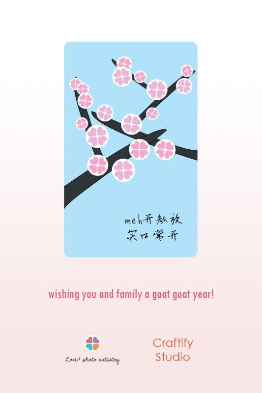 Happy Chinese New Year. May you have a goat goat year :)