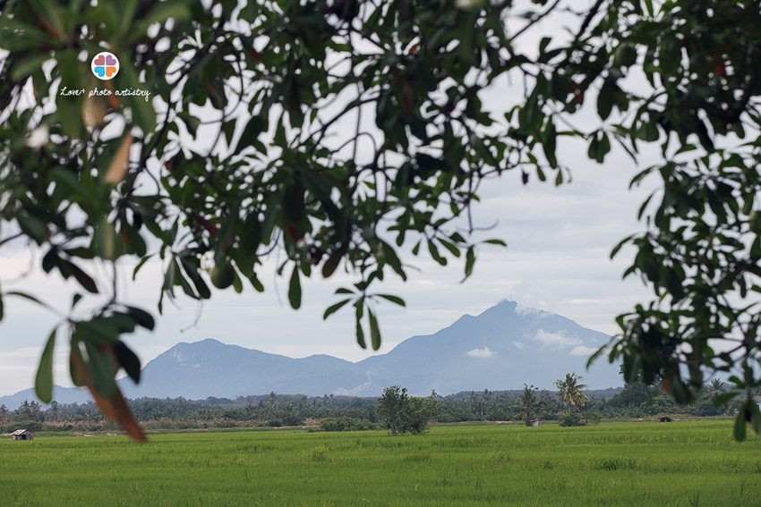 Gunung Ledang sighted from our portrait venue