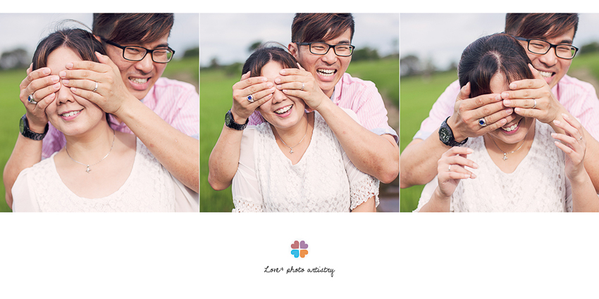 Fun and casual portrait in paddy field near Sungai Rambai Melaka