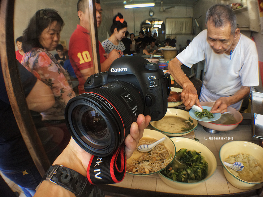 Hands-on the latest Canon EOS 5D Mark IV DSLR camera on the last day of Long Fatt Teochew Porridge (iPhonegraphy)