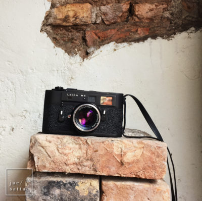 Leica M5 film camera of Tatsuya, a Japanese photographer we met at the Coffee Jar (iPhonegraphy)