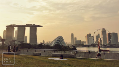 Marina Barrage in the late afternoon