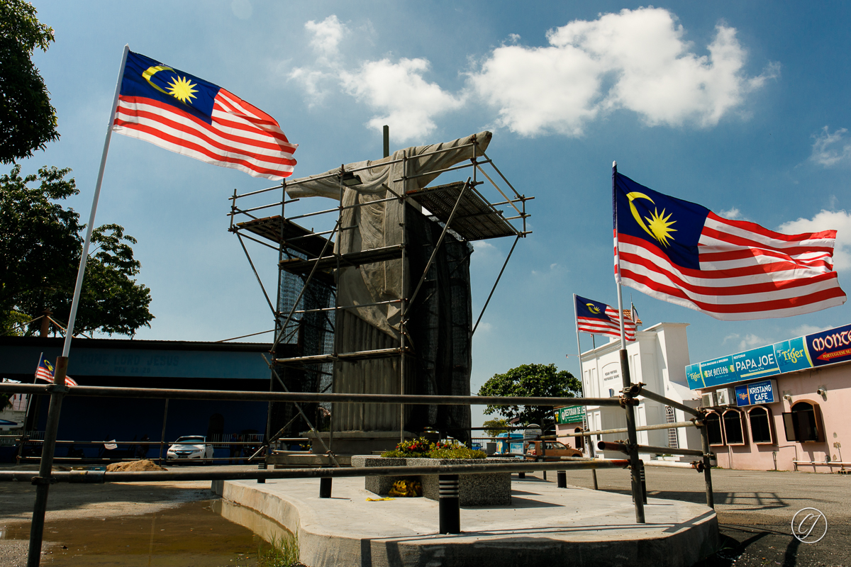 The controversial Christ the Redeemer statue in Portuguese Settlement Melaka